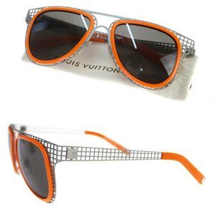 LOUIS VUITTON Logo Sunglasses Metal Damier range